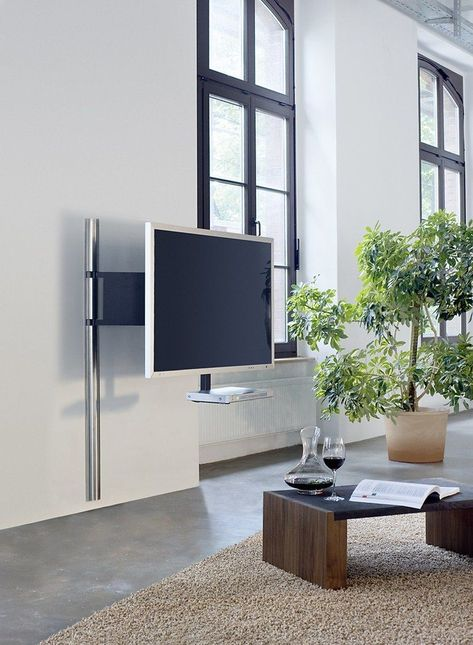 Wissmann Raumobjekte Porta Tv Girevole.Wissman Tv Wand Halter Art112