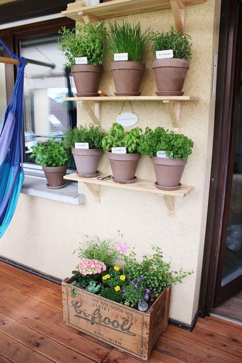 Eine Blumenkiste {Deko für Balkon