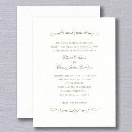 William Arthur Wedding Invitations Crane Com White Wedding Invitations Wedding Invitation Fonts Wedding Invitations