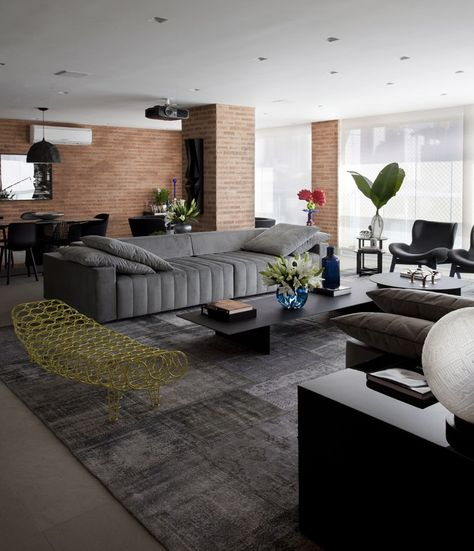 Marcelo Rosset Has Designed An Apartment Interior For A Family Of Four |  Salas | Pinterest | Apartamentos Em Sao Paulo, Em São Paulo E Apartamentos