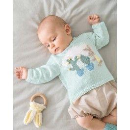 Phildar baby trui met konijn breien van Partner baby