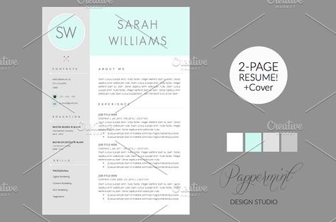 Minty Fresh Resume Resume Templates Resume Templates Pinterest - Eye Catching Resume