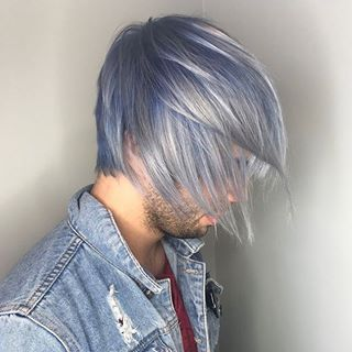 This Icy Pale Blue Hair Color By Aveda Artist Mackenzie Cruikshanx
