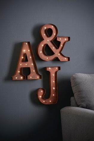 Lit Alphabet Metal Wall Plaque from Next
