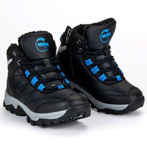 Polbuty I Trzewiki Dzieciece Dla Dzieci Axboxing Ax Boxing Czarne Obuwie Zimowe Hiking Boots Shoes Boots