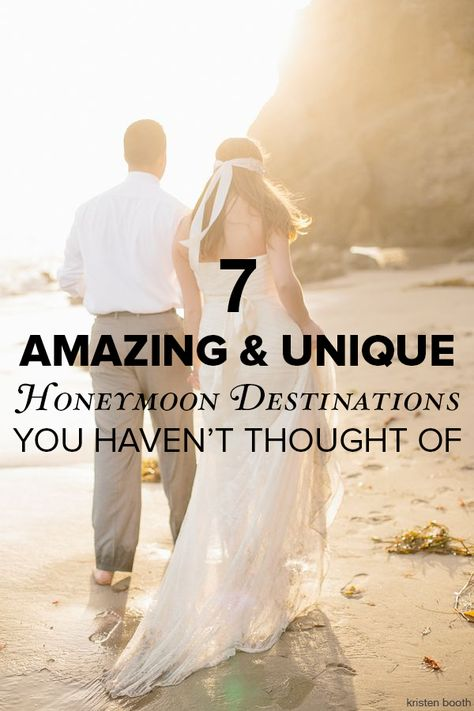 7 unique honeymoon destinations you haven't thought of yet. Pin now, read later!