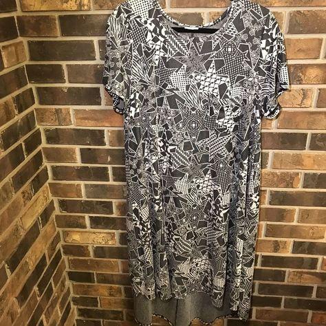 d7be548f5792 Lularoe Carly Stars Paw Prints Zebra Jacquard Black and White Unicorn HTF  2XL | Clothing, Shoes & Accessories, Women's Clothing, Dresses | eBay!