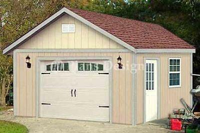 16 X 20 Garage Structure Yard Storage Gable Shed Plans Design 51620 753182758299 Ebay Shed Plans Shed Garage Plans