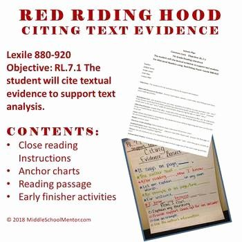 Citing Textual Evidence Worksheet Inspirational Cite Text Evidence Plete Lesson High Interest Red In 2020 Citing Textual Evidence Citing Text Evidence Textual Evidence