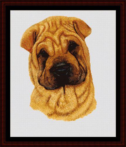 Sharpei - Cross Stitch Collectibles fine art counted cross stitch pattern