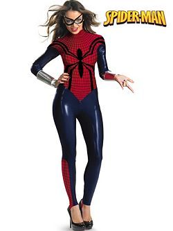 This Spider-Girl Bodysuit Costume Set - Women by Spiderman is perfect!