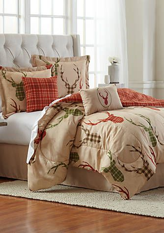 Bedding Set Pink Plaid Bed in a Bag Full Size Comforter Sheets Pillowcases New