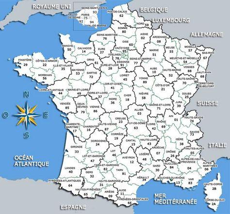 Carte De France Departements Carte De France Departement Carte