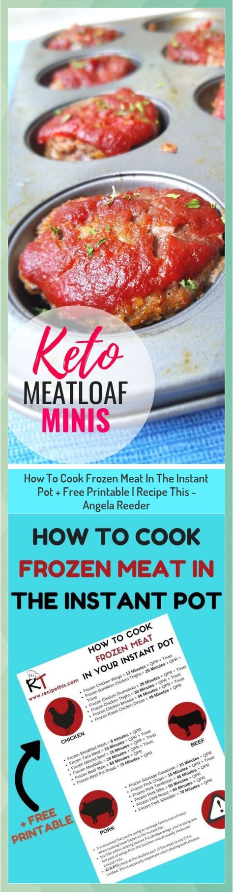 How To Cook Frozen Meat In The Instant Pot + Free Printable   Recipe This - Angela Reeder #Angela #Cook #Free #Frozen #Instant #Meat #Pot #Printable #Recipe #Reeder