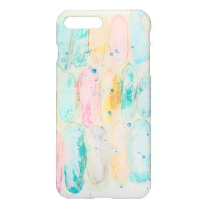 Ovals Watercolor Artistic Pastel Grunge Pink Blue Iphone Case