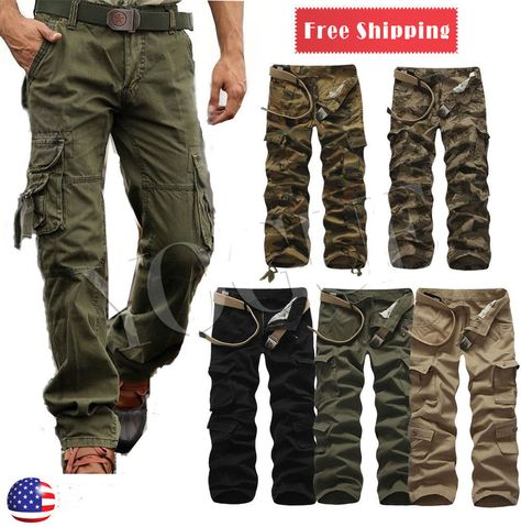 """Utility Black Military Style Combat  Cargo NEW Field Trousers Size 32/""""-36/"""""""