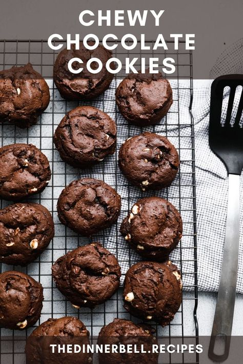 A chocolate lover's dream. Part cookie, part brownie and made with ingredients you probably already have on hand.