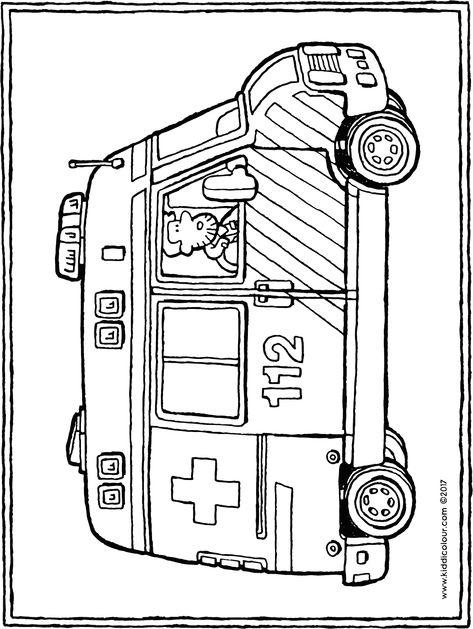 einzigartig ausmalbild krankenwagen färbung malvorlagen