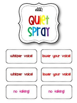 These are FREE Motivational Labels that encourage a positive learning environment.  It includes a quiet spray label, quiet critters label, on task label, and redirection cards.