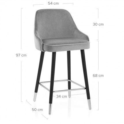 Glam Bar Stool Grey Velvet Bar Stools Stool Balcony Table Chairs