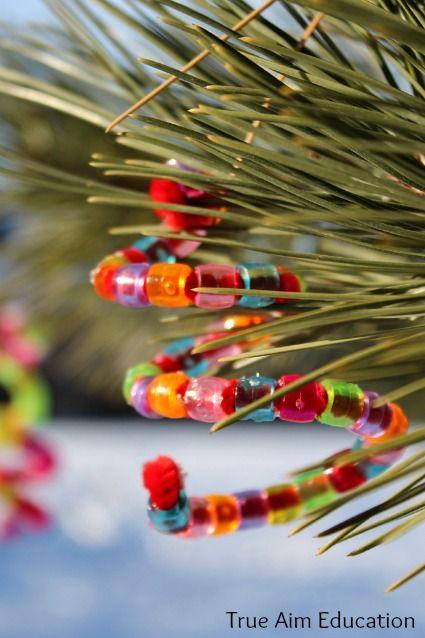 homemade beaded christmas tree ornaments