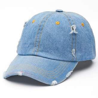 Women s Distressed Denim Baseball Cap  hat  womens  d6b1d1686304