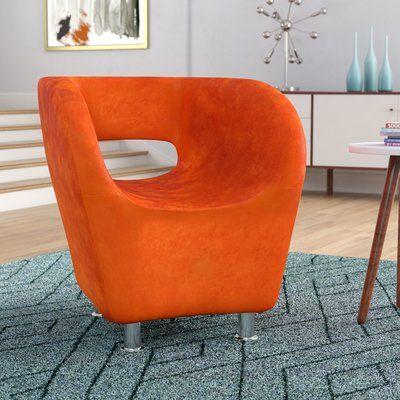 Corrigan Studio Sarita Barrel Chair Barrel Chair Chair Upholstery Mid Century Accent Chair