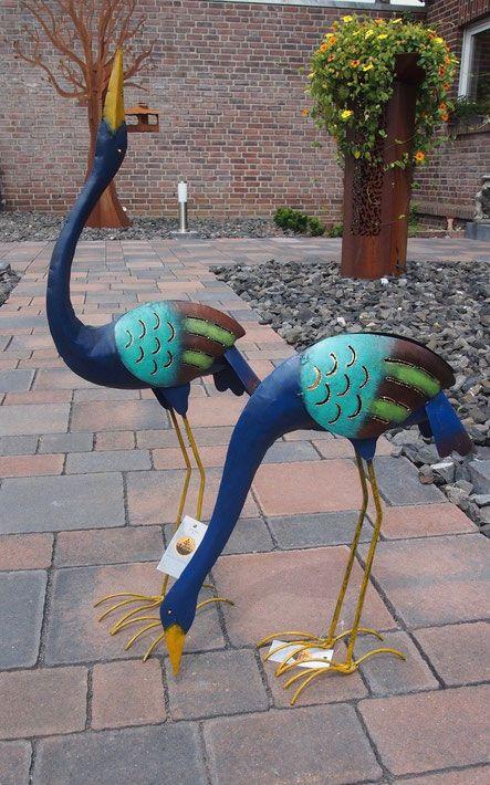 Vogelskulpturen Aus Metall 2 Stuck Vogel Fur Haus Und Garten Gartendekoration Haus Und Garten Skulpturen