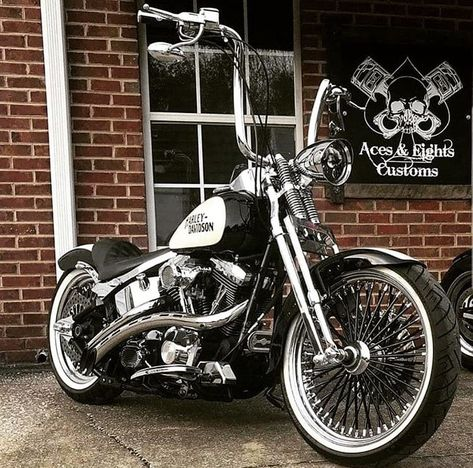 Softail Springer _______ 🔥Labor Day Weekend in Durango, CO ⚡️ Friday, Aug. 2019 🦅 The Best Riding Rally in 🇺🇸 _______ Credit: _______ Virago Bobber, Sportster Motorcycle, Bobber Bikes, Harley Bobber, Harley Bikes, Harley Davidson Chopper, Bobber Chopper, Harley Davidson Motorcycles, Motorcycle Gear
