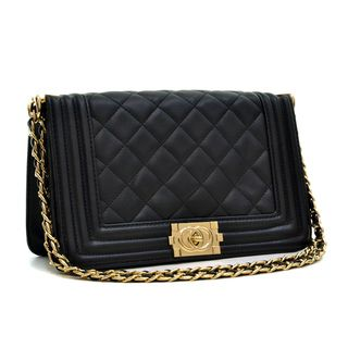 85f15b55b91e Dasein Quilted Crossbody Bag with Intertwined Leather Gold-Tone Chain Straps