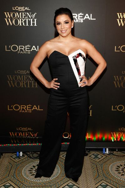 Eva Longoria attends the L'Oreal Paris Women of Worth Celebration at The Pierre Hotel.