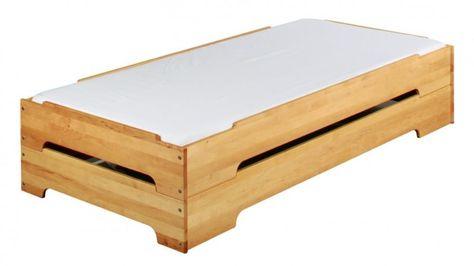 Stapelbetten 2er Set Kinderbett Gastebett 90x200 Erle