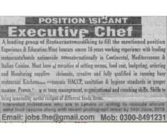 Executive Chef Jobs In Leading Group Of Restaurants In