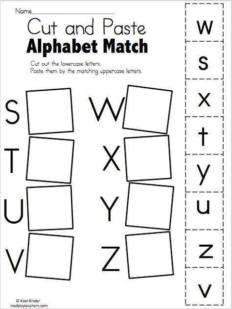 Alphabet Match S To Z Free Worksheets With Images Alphabet
