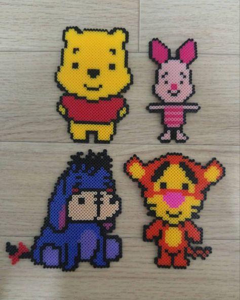 Winnie and friends perler beads by zkdls4038