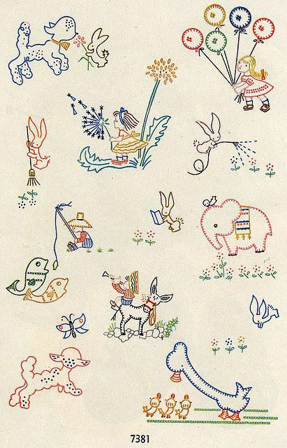 embroidery sampler  reminds me of the magazines for embroidery my mom had! #vintageembroiderypatternideas