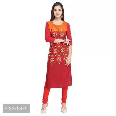 *Casual Printed Ethnic Crepe kurti*  *Size* :  S (Bust - 36.0 inches) M (Bust - 38.0 inches) L (Bust - 40.0 inches) XL (Bust - 42.0 inches) 2XL (Bust - 44.0 inches) 3XL (Bust - 46.0 inches) 4XL (Bust - 48.0 inches)  *Color* : Red  *Fabric* : Crepe  *Type* : Stitched  *Style* : Printed  *Design Type* : Straight    Designer Crepe kurti adds a star to your wardrobe and to your look when paired with solid colour leggings. This long kurti collection available in designer died patterns and available in beautiful colours combinations. This collection is ideal as Casual wear having 3/4 sleeves.  Disclaimer: Images shown here are for reference purposes only. The Colour of the product received by you may differ what you see in the image.
