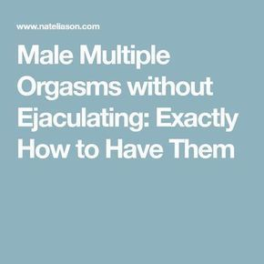 Multiple orgasm tips