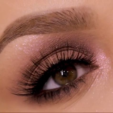Smokey Eye With A Kiss of Pink