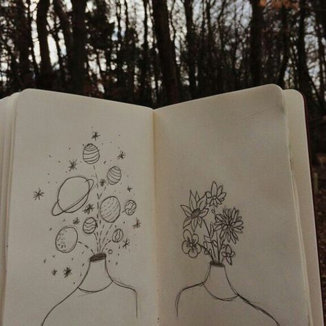Drawing Flowers Grunge Hipster Indie Planets Tumblr