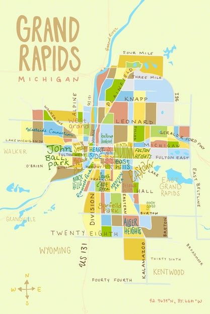 Kate Dupre - Illustrated Grand Rapids Map - ArtPrize Entry ... on map of holgate, map of esko, map of alpena community college, map of mount morris, map of jenison, map of paynesville area, map of birch run township, map of grindstone city, map of the detroit, map of mankato area, map of west branch, map of troutdale, map of little falls, map of lindstrom, map of barnesville, map of pauls valley, map of iron county, map of olivet, map of heppner, map of iron river,