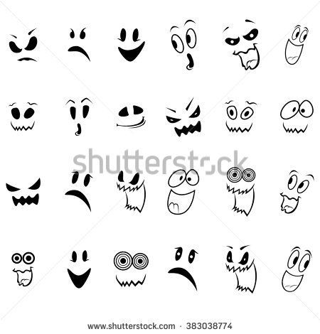 Simple Cartoon Ghost Faces Ghost Cartoon Ghost Faces Cute Halloween Drawings