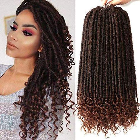 #crochet Braid Styles Faux Locs Updo New 7 Packs Faux Locs Crochet Hair with Cur ...,  #Braid #crochet #Cur #Faux #goddesshair #Hair #Locs #Packs #Styles #updo