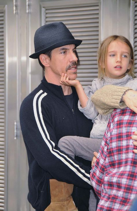 Anthony Kiedis Turns The World's Healthiest Rock Star- Get it and keep it tight! Kiedis with his son, Everly Bear, in April (Getty Images)