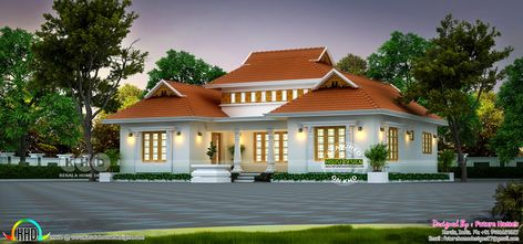 1250 Sq Ft Outstanding Traditional Kerala Home Kerala Houses Traditional Home Exteriors Kerala Traditional House