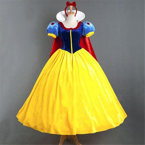 2015 trasporto libero caldo del fumetto principessa biancaneve per adulti dress costumi cosplay di halloween pannier testa fascia con fiocco rosso(China (Mainland))