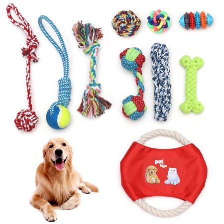 10pcs Pet Dog Animals Figures Rope Chew Toys Durable Non Toxic