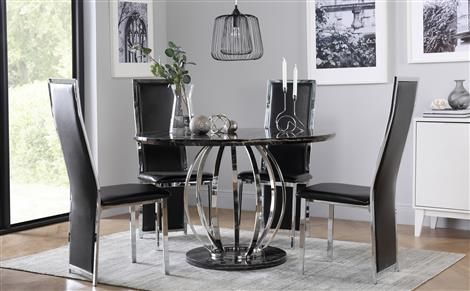 10 Round Dining Tables To Create A Cozy And Modern Decor Chrome Dining Table Dining Room Table Set Dining Table Marble