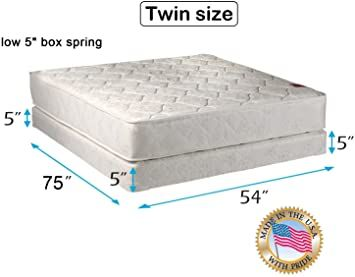 Legacy Two Sided Mattress And Low Profile Box Spring Set With Mattress Protector Included Orthopedic Fully Assembl In 2020 Box Spring Spring Set Queen Mattress Size