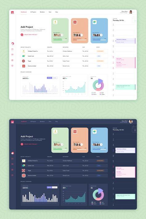 Work Management Dashboard Free UI Kit | Theme-UI